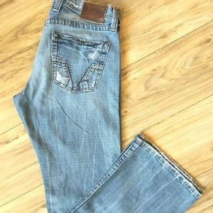 Lucky Brand Mens Size 30 Jeans Bootcut Distressed